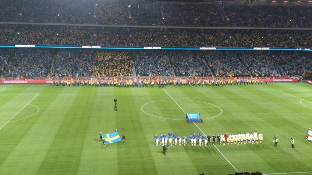 Sverige-England på Friends Arena